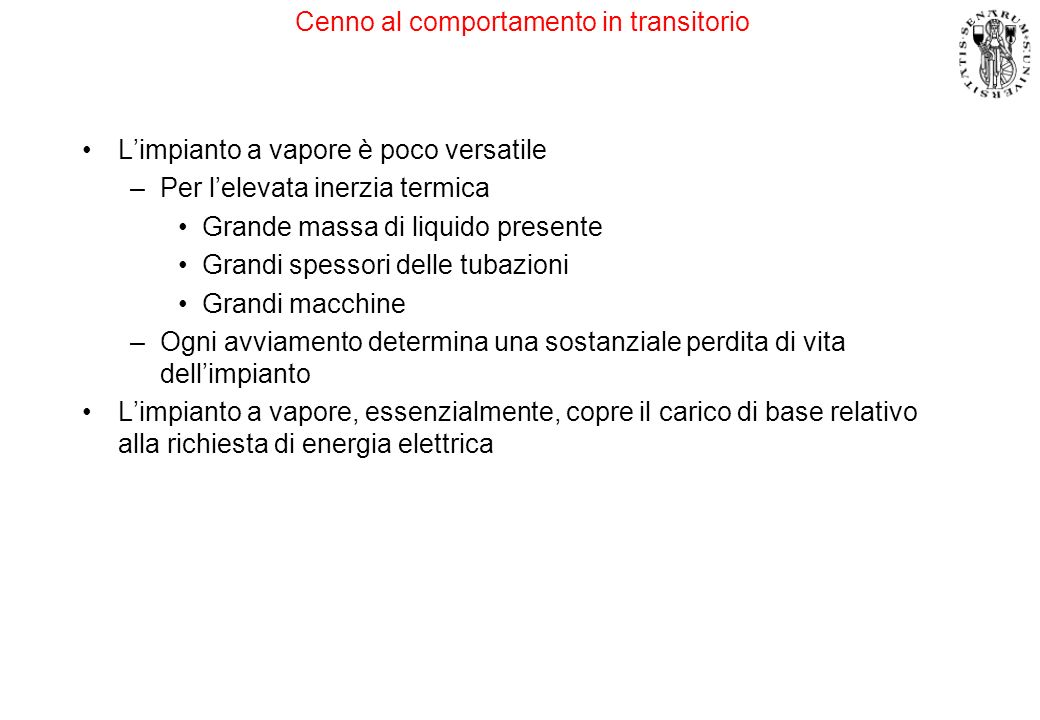 Cenno al comportamento in transitorio