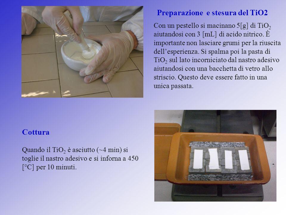 Preparazione e stesura del TiO2