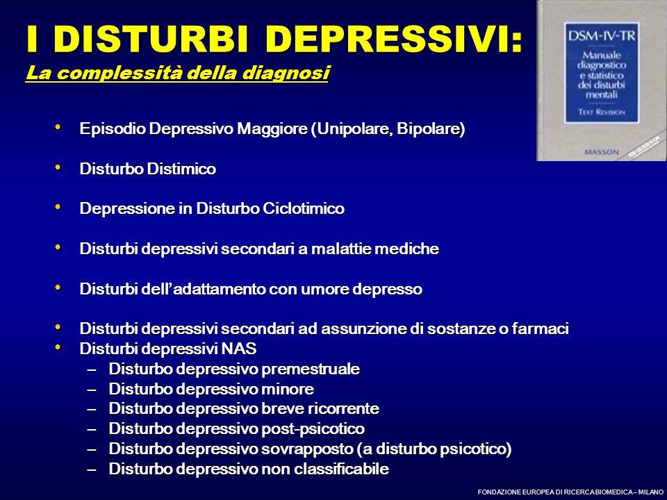 I DISTURBI DEPRESSIVI: