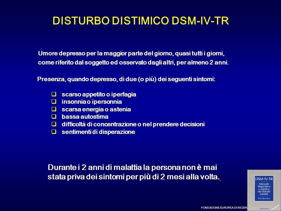 DISTURBO DISTIMICO DSM-IV-TR