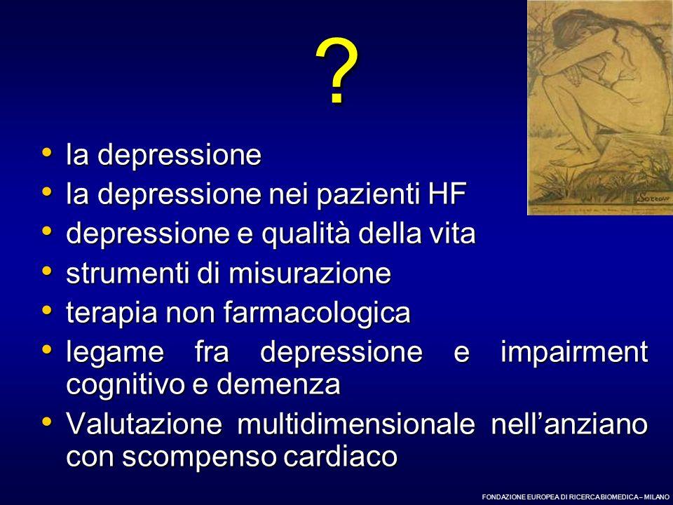la depressione la depressione nei pazienti HF