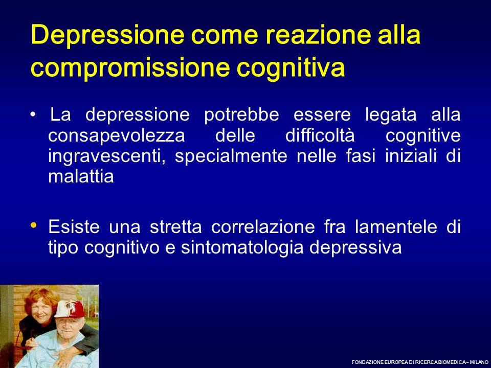 Depressione come reazione alla compromissione cognitiva