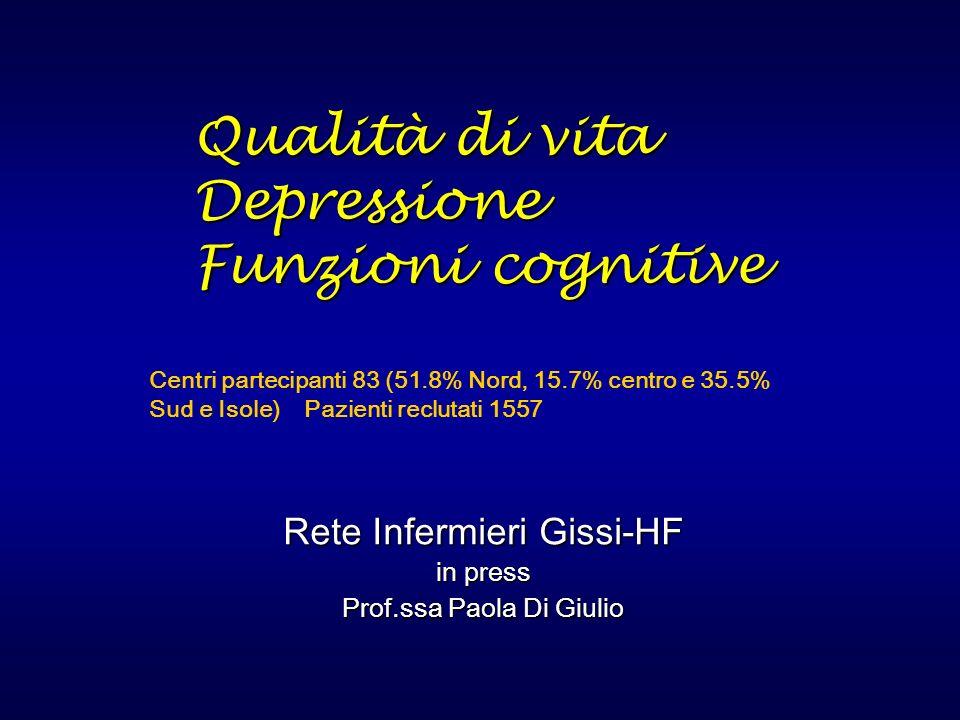 Qualità di vita Depressione Funzioni cognitive