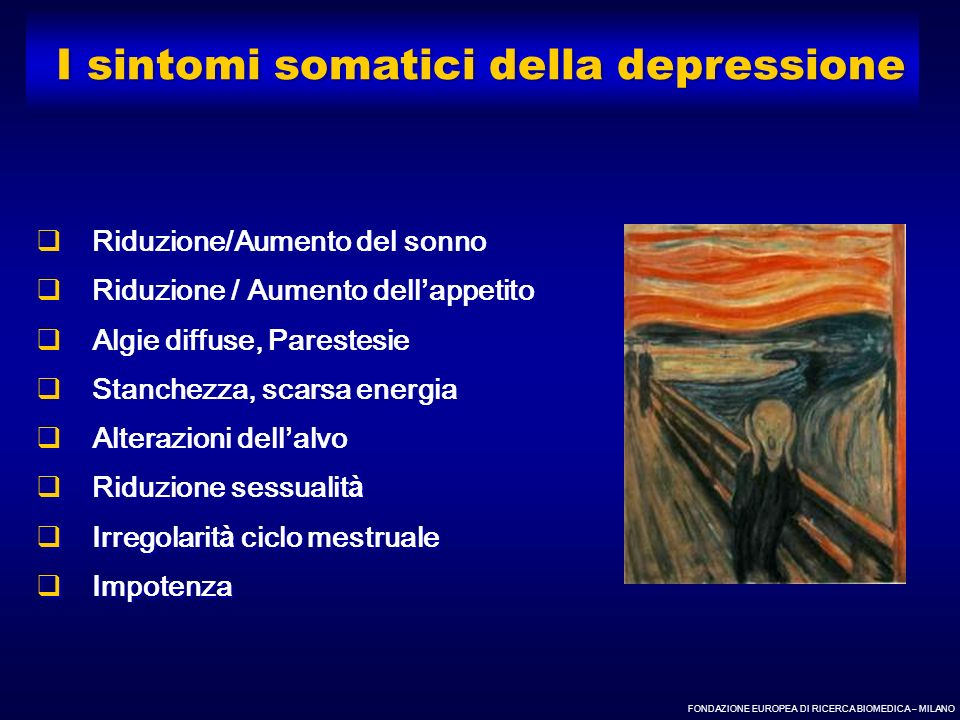 I sintomi somatici della depressione