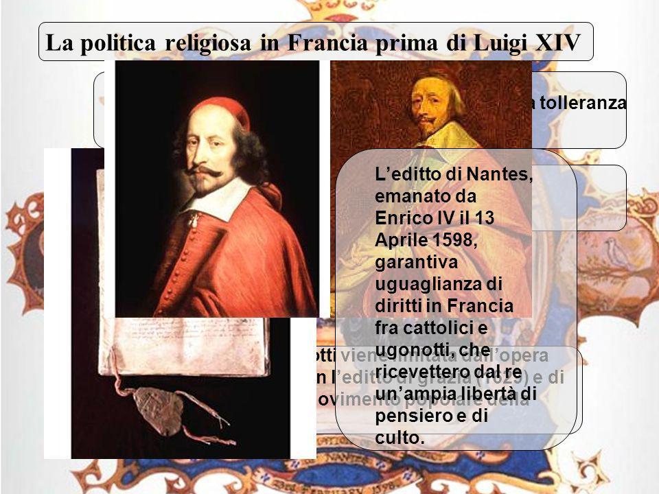 La politica religiosa in Francia prima di Luigi XIV