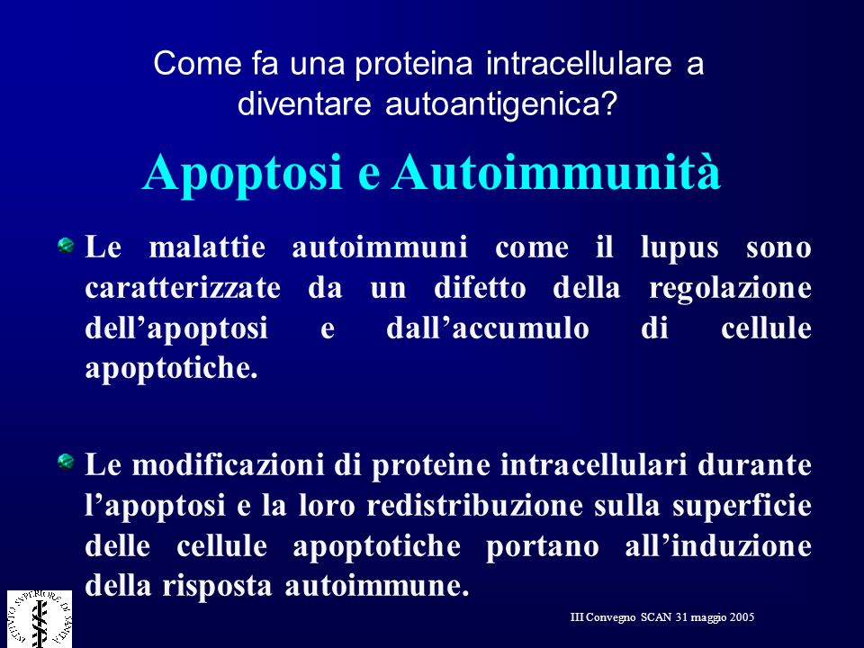 Apoptosi e Autoimmunità