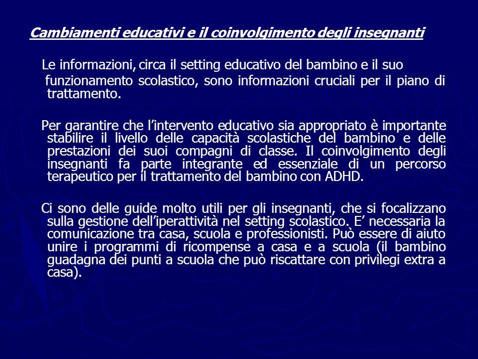 Cambiamenti educativi e il coinvolgimento degli insegnanti