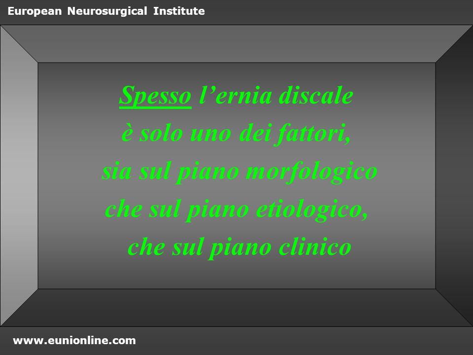 Spesso l'ernia discale è solo uno dei fattori,