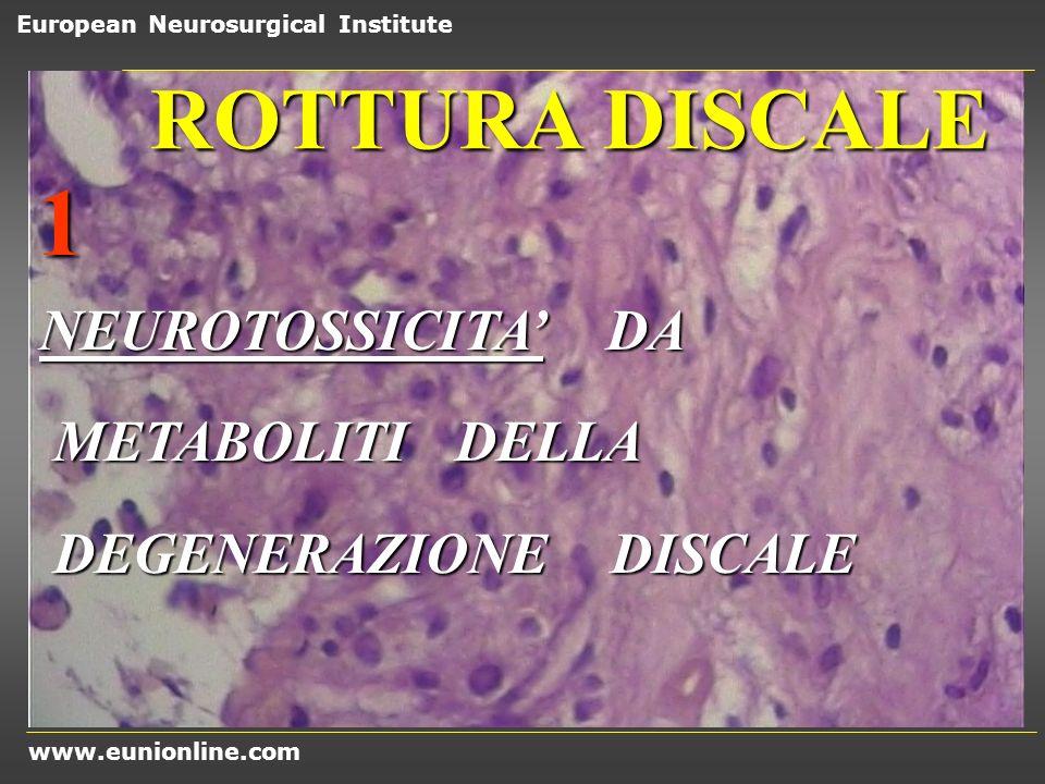 1 ROTTURA DISCALE NEUROTOSSICITA' DA METABOLITI DELLA
