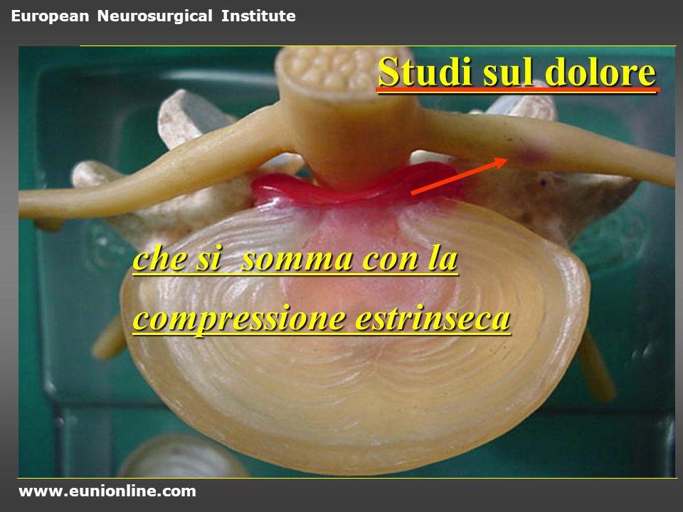 Studi sul dolore che si somma con la compressione estrinseca