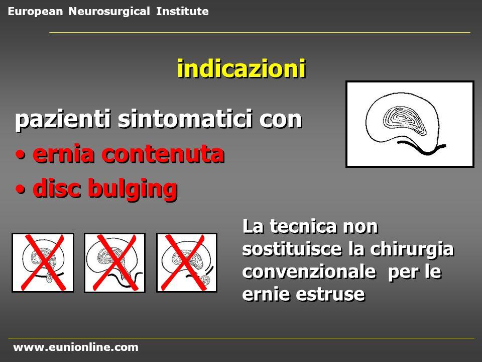 pazienti sintomatici con ernia contenuta disc bulging