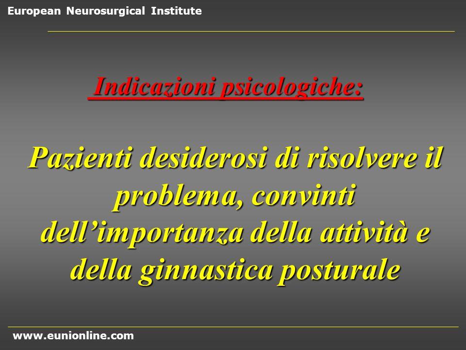 Indicazioni psicologiche: