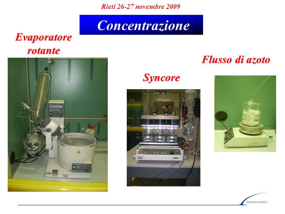 Concentrazione Evaporatore rotante Flusso di azoto Syncore
