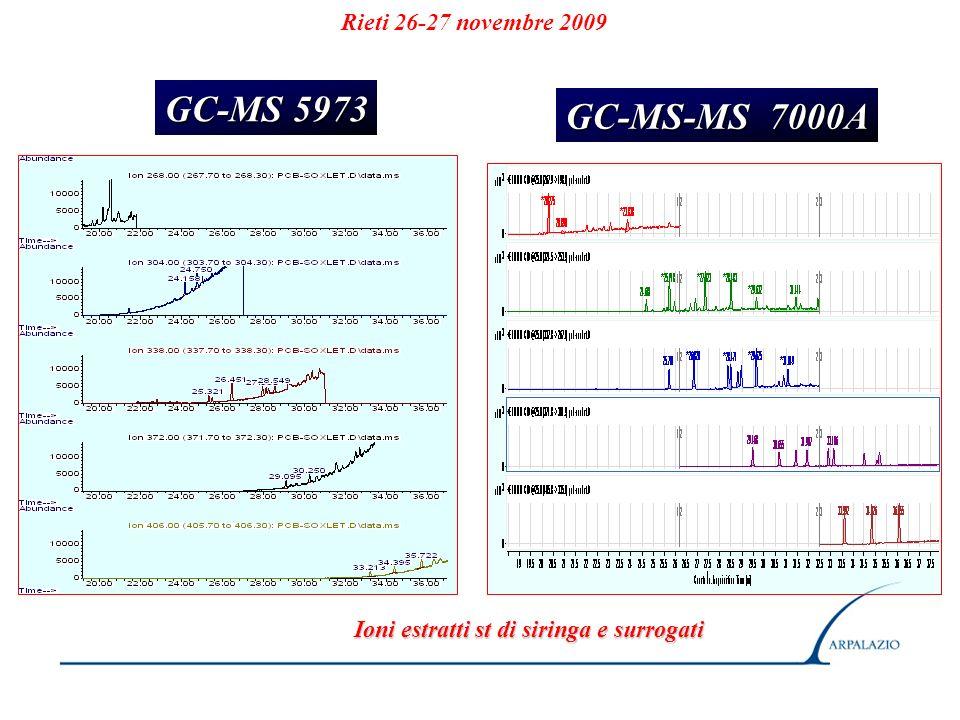 GC-MS 5973 GC-MS-MS 7000A Rieti 26-27 novembre 2009
