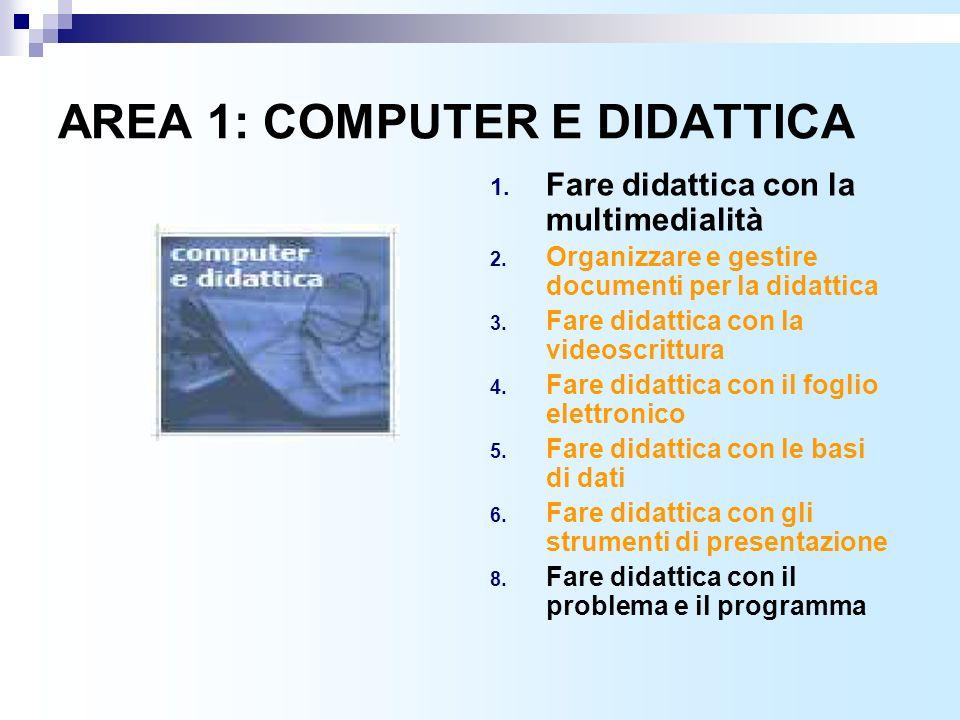 AREA 1: COMPUTER E DIDATTICA