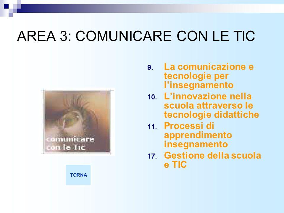 AREA 3: COMUNICARE CON LE TIC