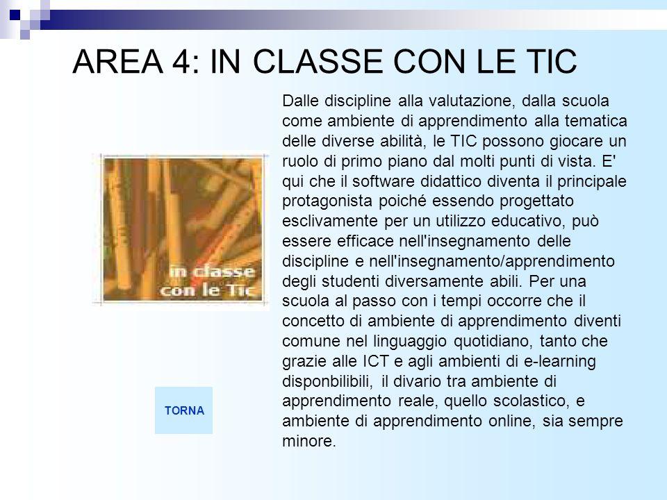 AREA 4: IN CLASSE CON LE TIC