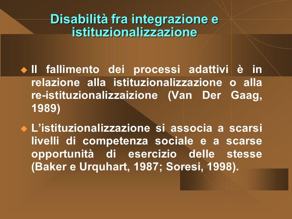 Disabilità fra integrazione e istituzionalizzazione