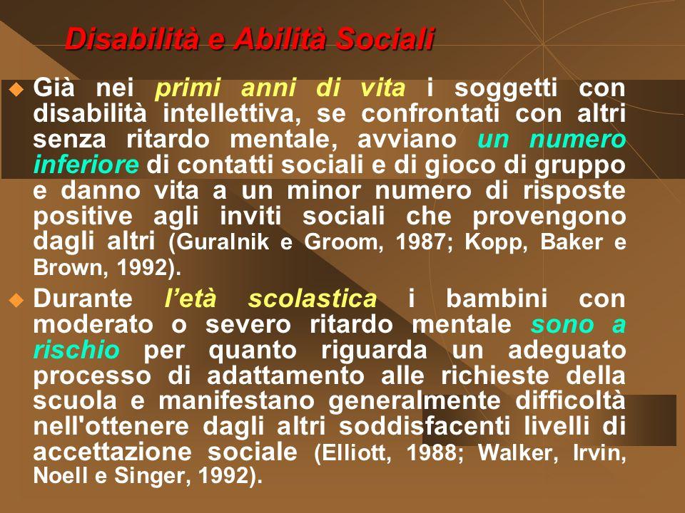 Disabilità e Abilità Sociali