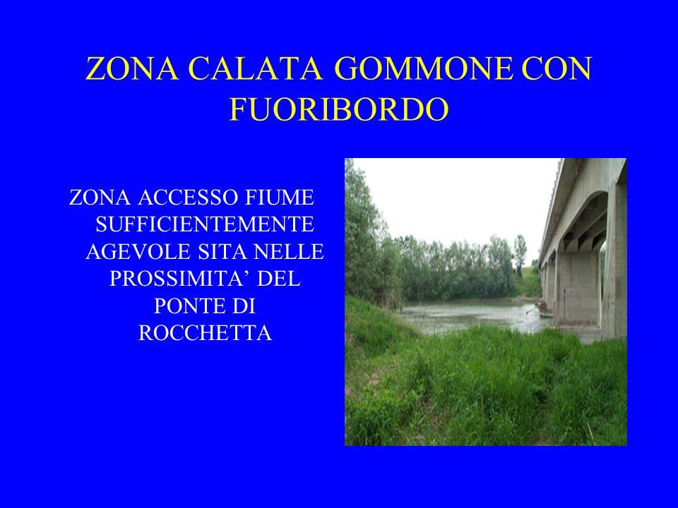 ZONA CALATA GOMMONE CON FUORIBORDO