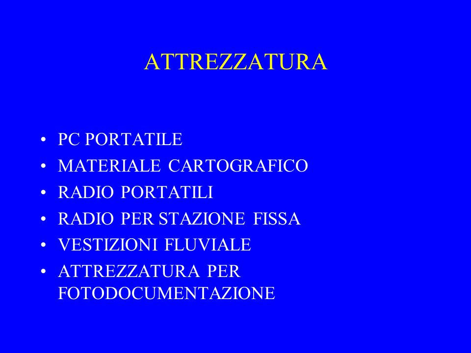 ATTREZZATURA PC PORTATILE MATERIALE CARTOGRAFICO RADIO PORTATILI