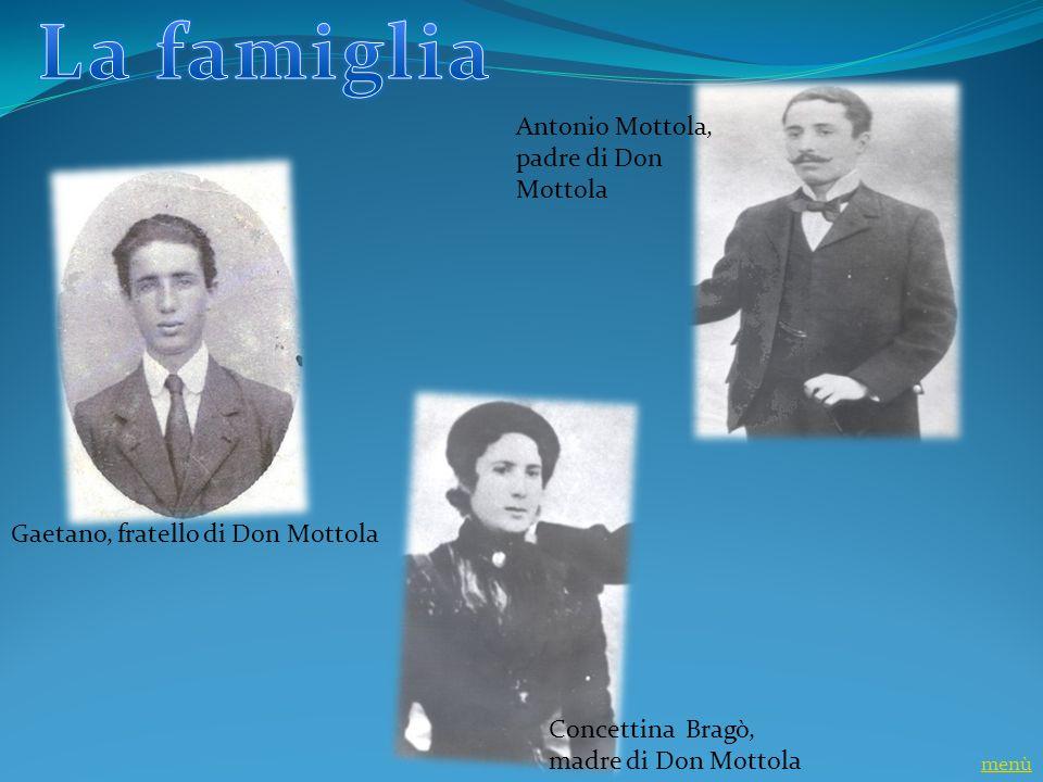 La famiglia Antonio Mottola, padre di Don Mottola
