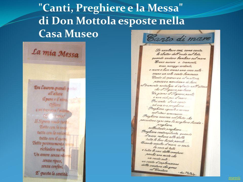 Canti, Preghiere e la Messa di Don Mottola esposte nella Casa Museo