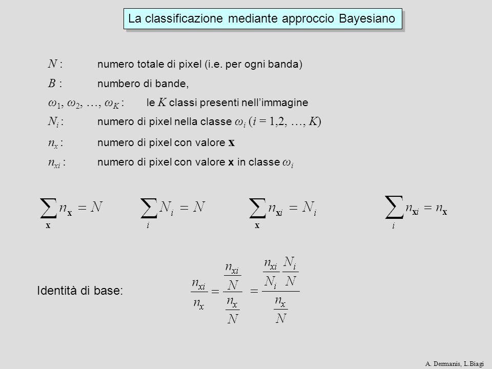 La classificazione mediante approccio Bayesiano