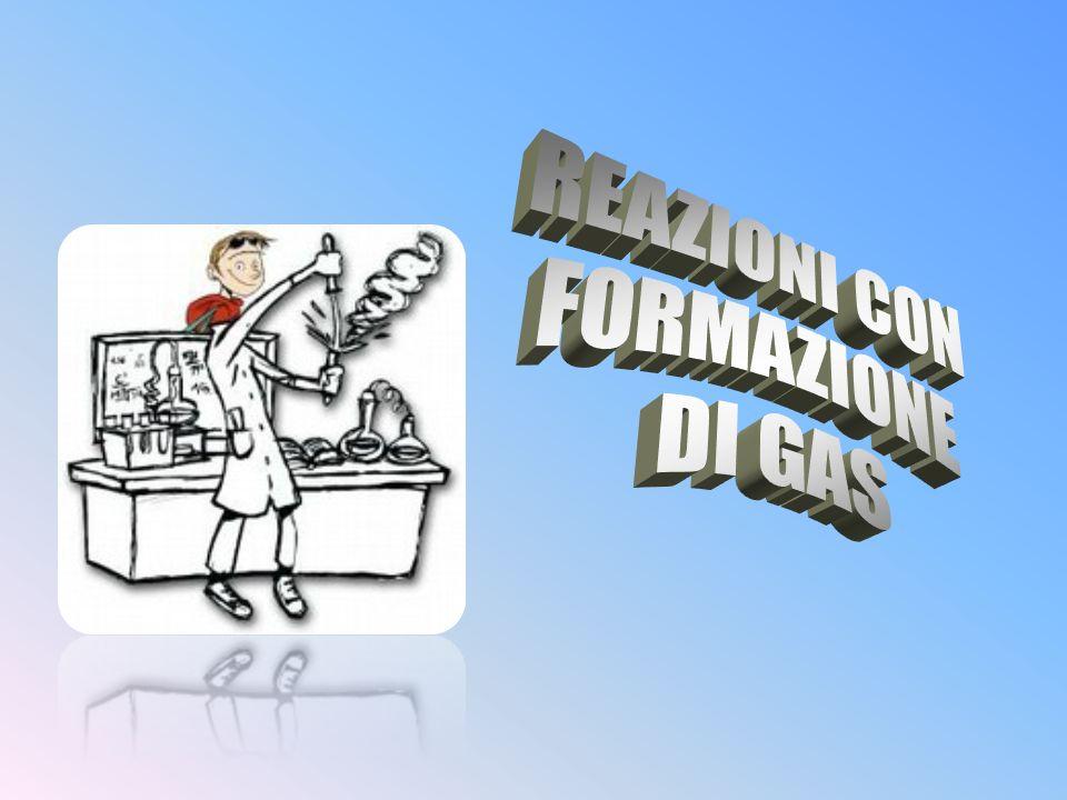 REAZIONI CON FORMAZIONE DI GAS