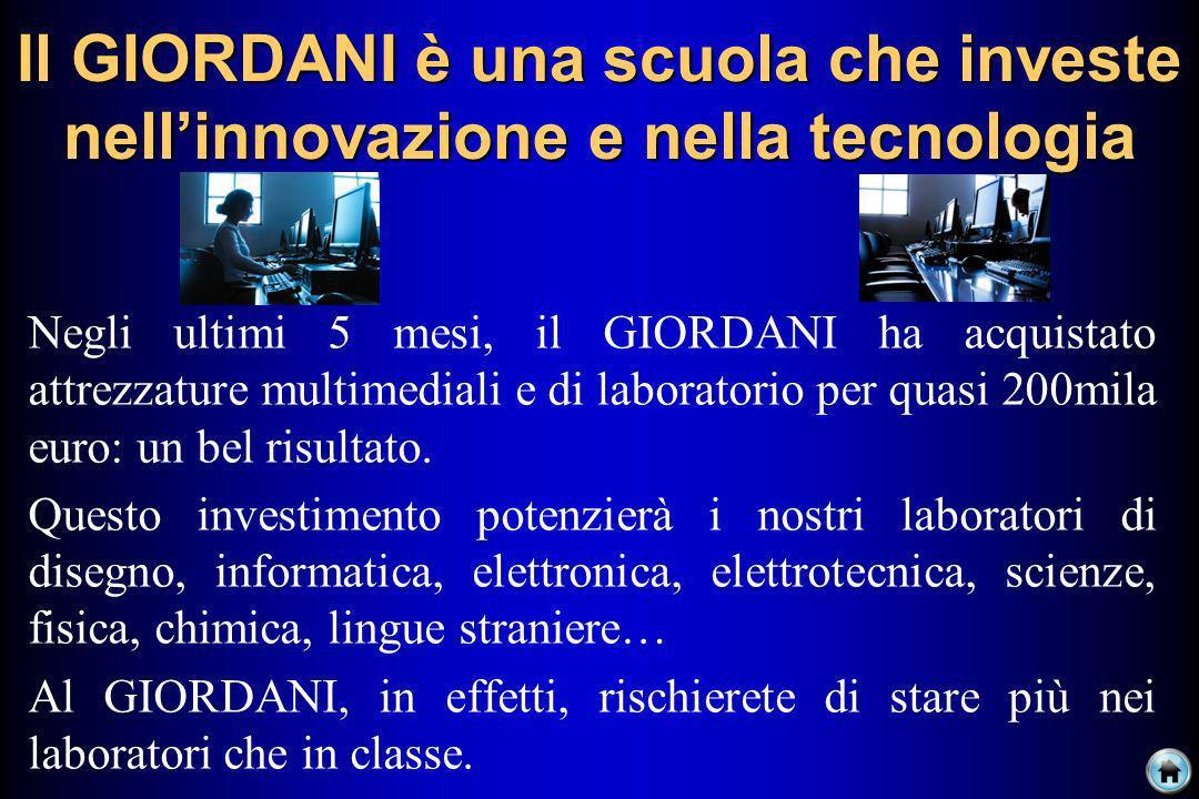 Il GIORDANI è una scuola che investe nell'innovazione e nella tecnologia
