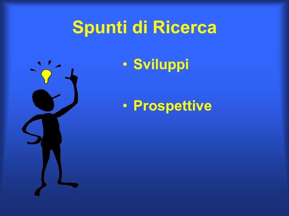 Spunti di Ricerca Sviluppi Prospettive