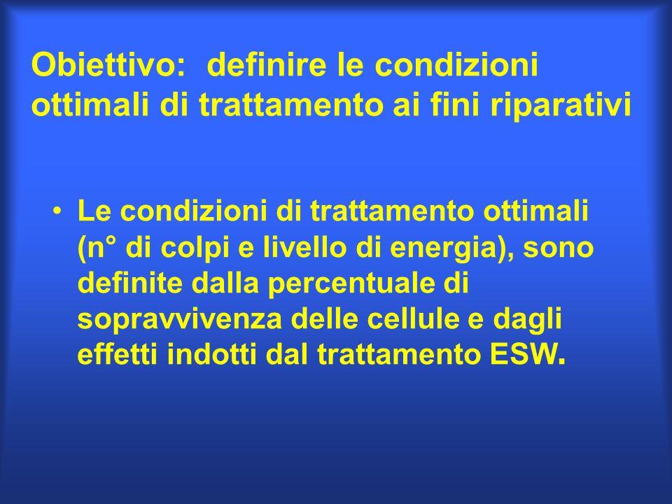 Obiettivo: definire le condizioni ottimali di trattamento ai fini riparativi