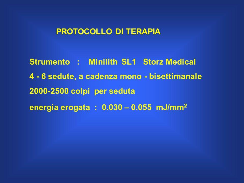 PROTOCOLLO DI TERAPIA Strumento : Minilith SL1 Storz Medical