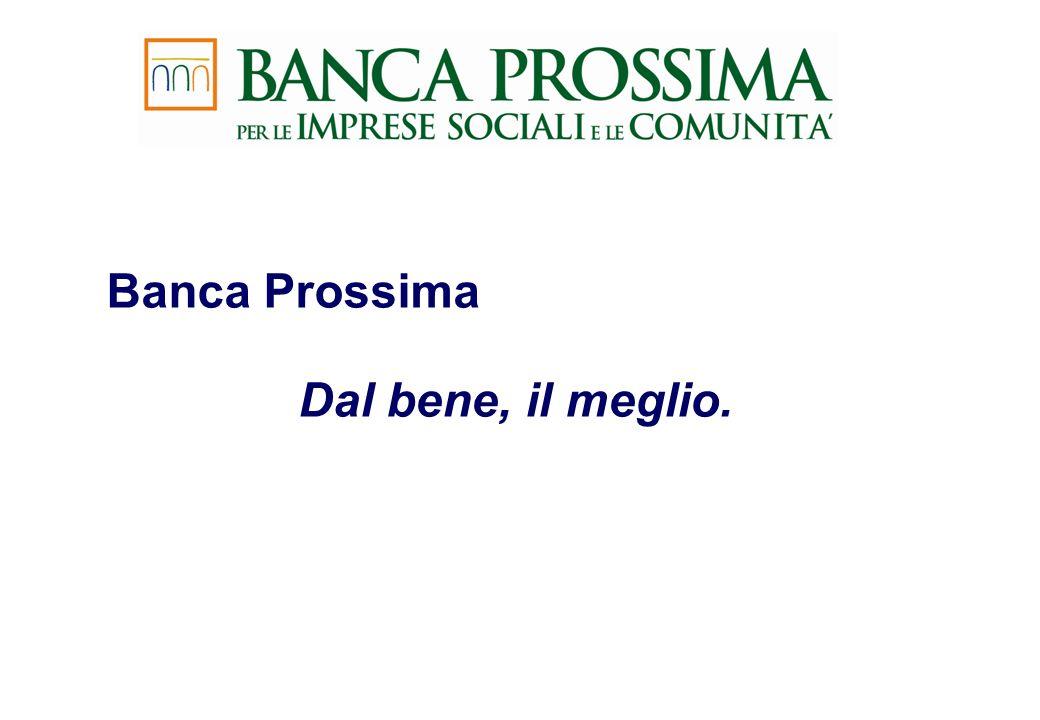 Banca Prossima Dal bene, il meglio.