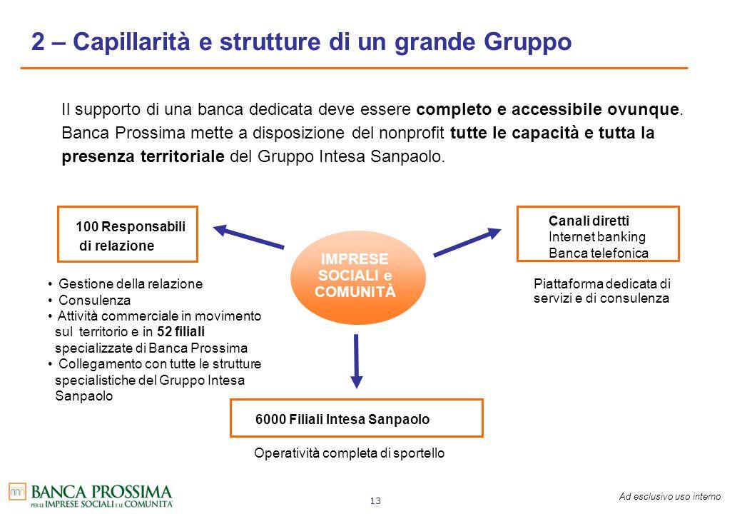2 – Capillarità e strutture di un grande Gruppo