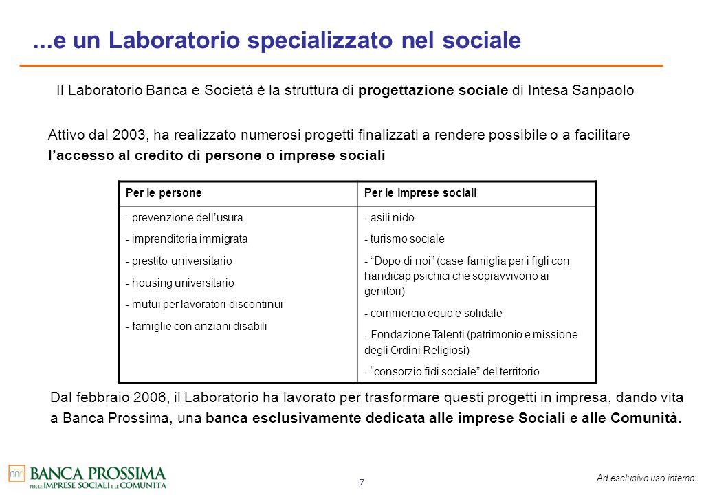 ...e un Laboratorio specializzato nel sociale