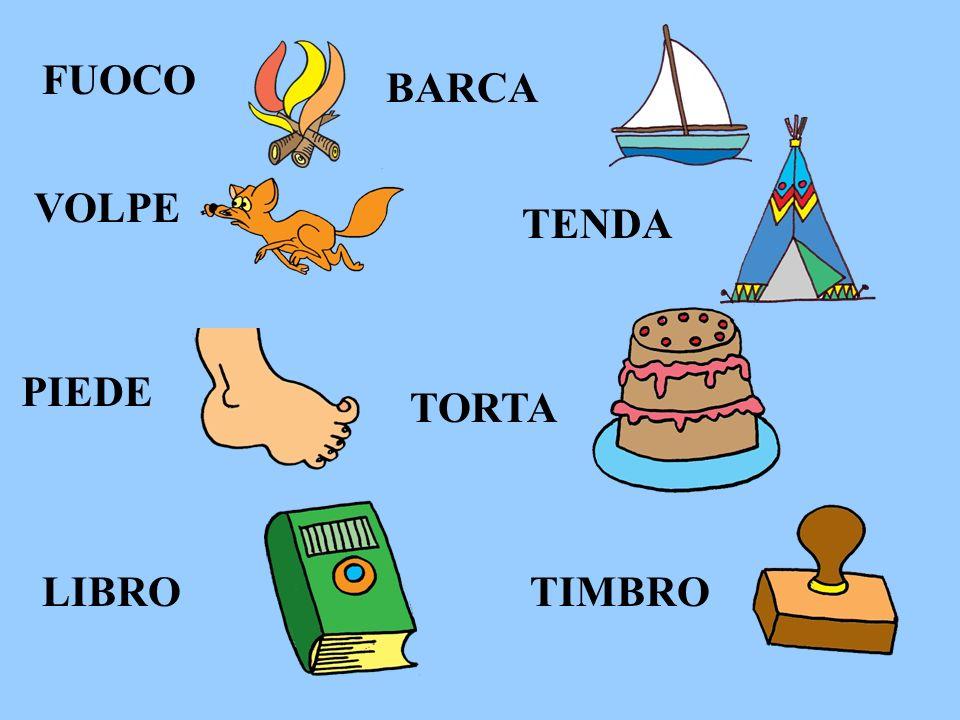 FUOCO BARCA VOLPE TENDA PIEDE TORTA LIBRO TIMBRO