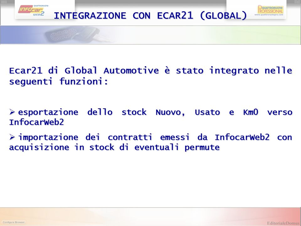 INTEGRAZIONE CON ECAR21 (GLOBAL)