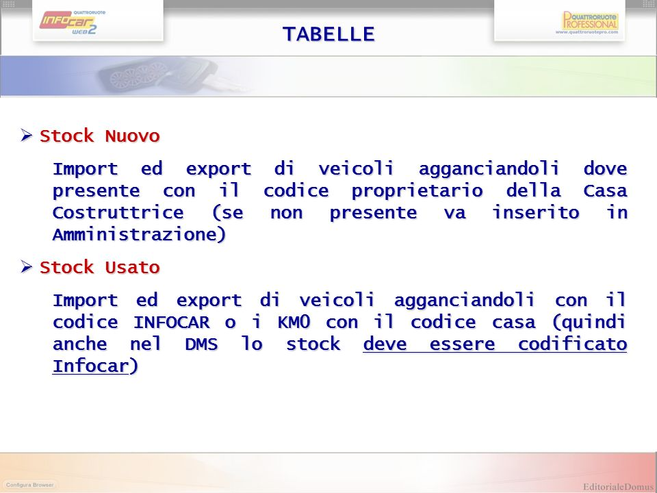TABELLE Stock Nuovo.
