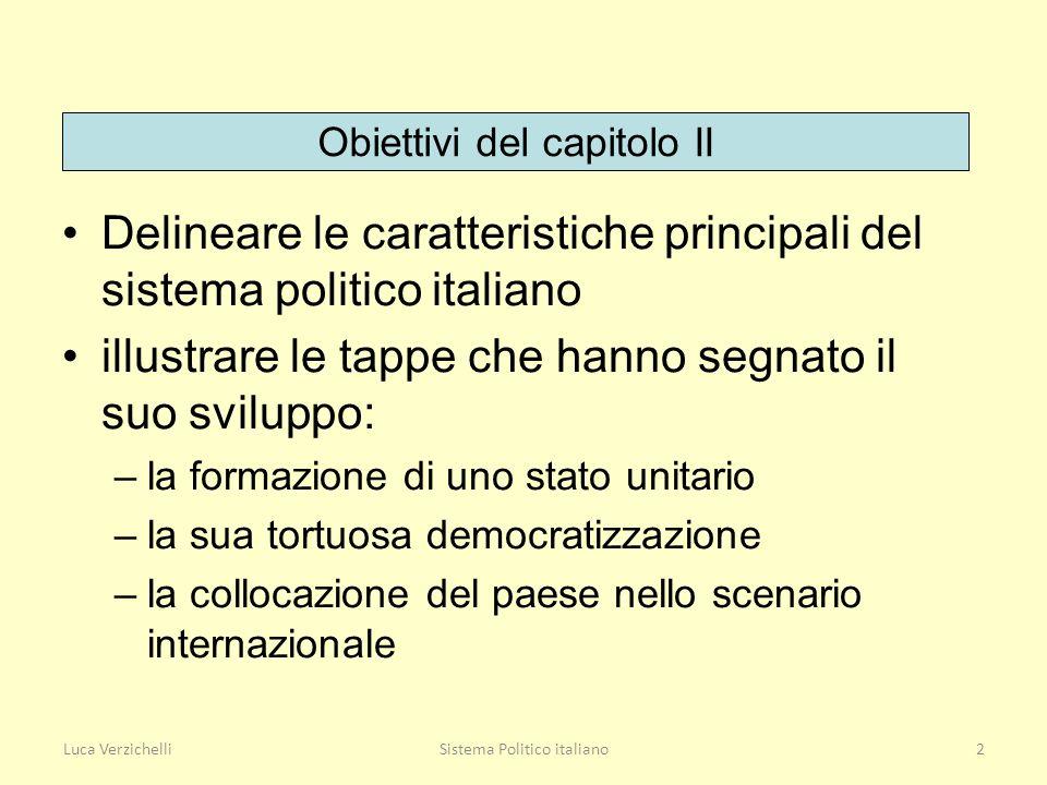 Delineare le caratteristiche principali del sistema politico italiano
