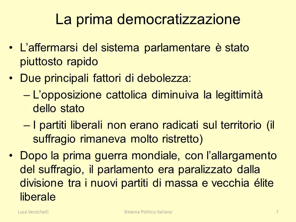La prima democratizzazione