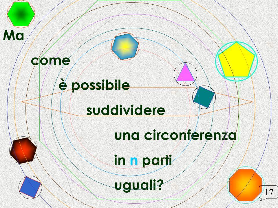 Ma come è possibile suddividere una circonferenza in n parti uguali