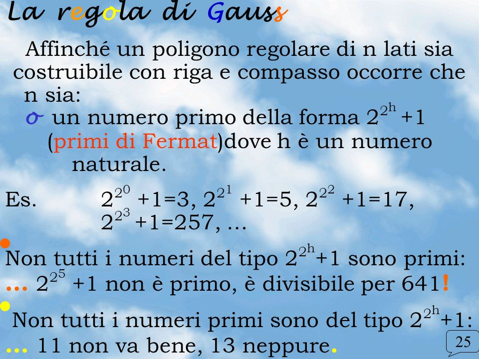 La regola di Gauss
