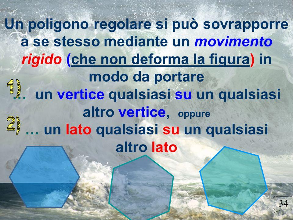 Un poligono regolare si può sovrapporre a se stesso mediante un movimento rigido (che non deforma la figura) in modo da portare