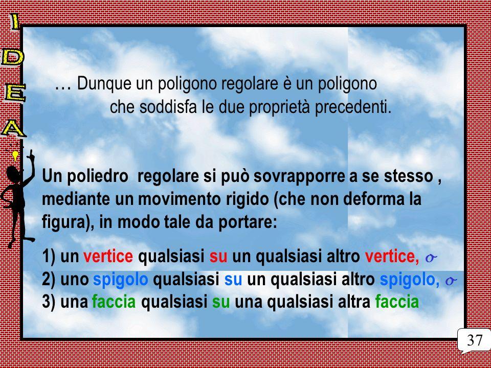 … Dunque un poligono regolare è un poligono