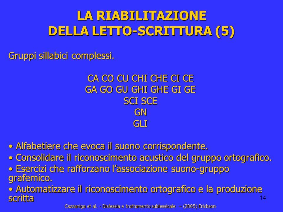 LA RIABILITAZIONE DELLA LETTO-SCRITTURA (5)