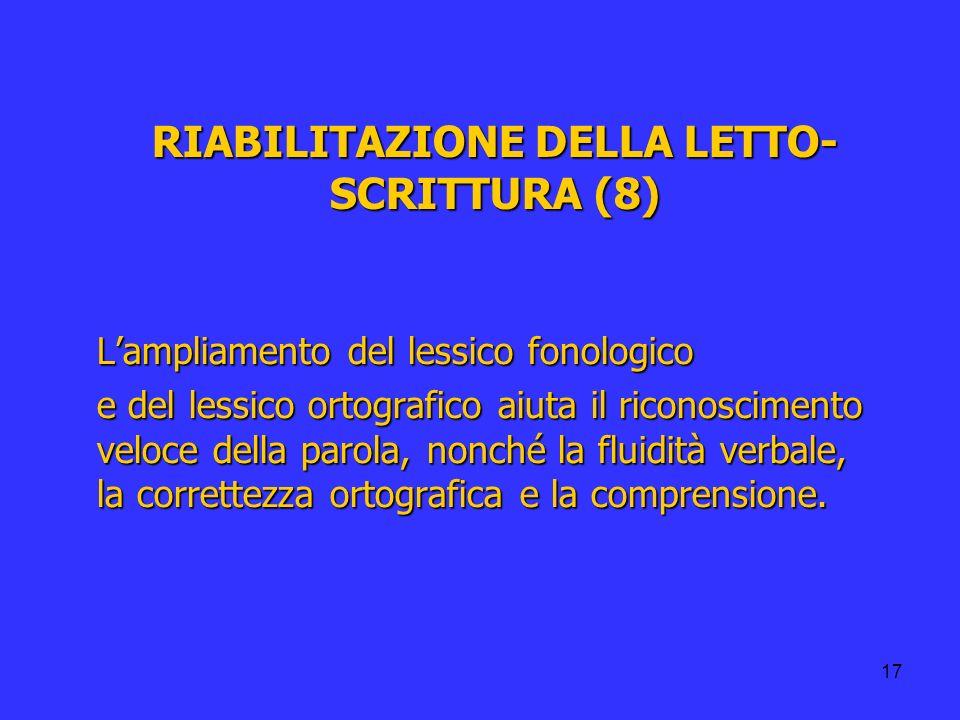 RIABILITAZIONE DELLA LETTO-SCRITTURA (8)