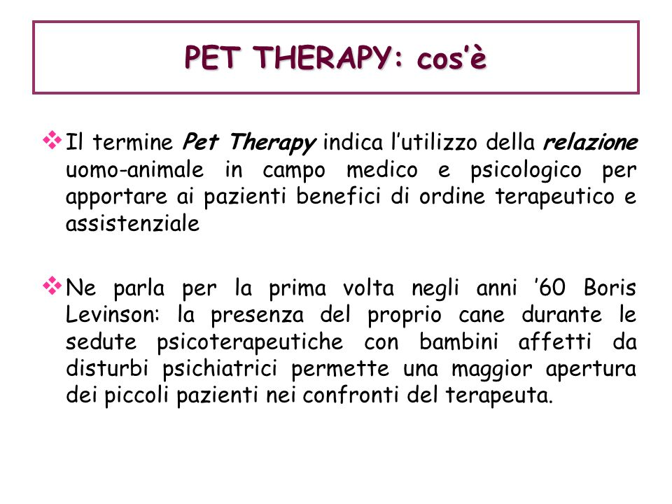 PET THERAPY: cos'è