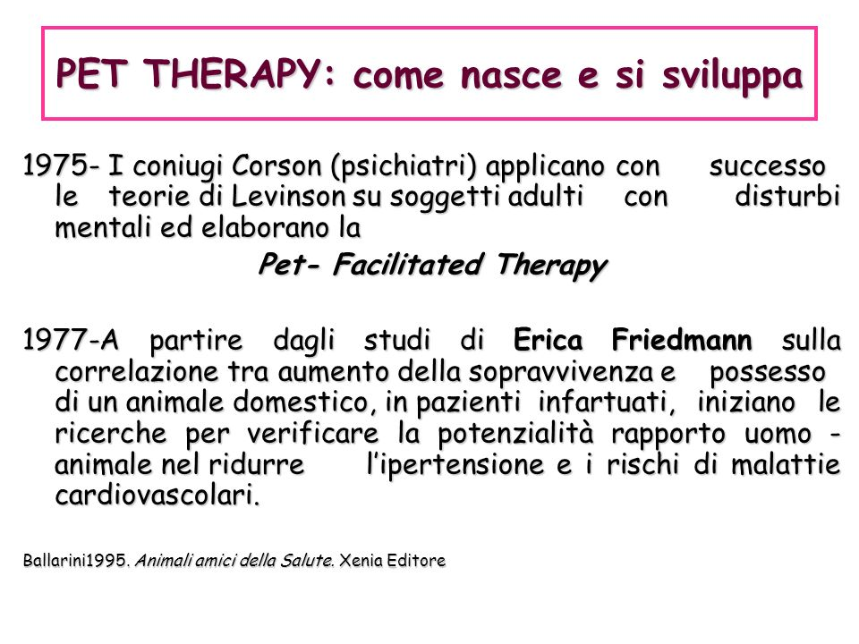 PET THERAPY: come nasce e si sviluppa Pet- Facilitated Therapy