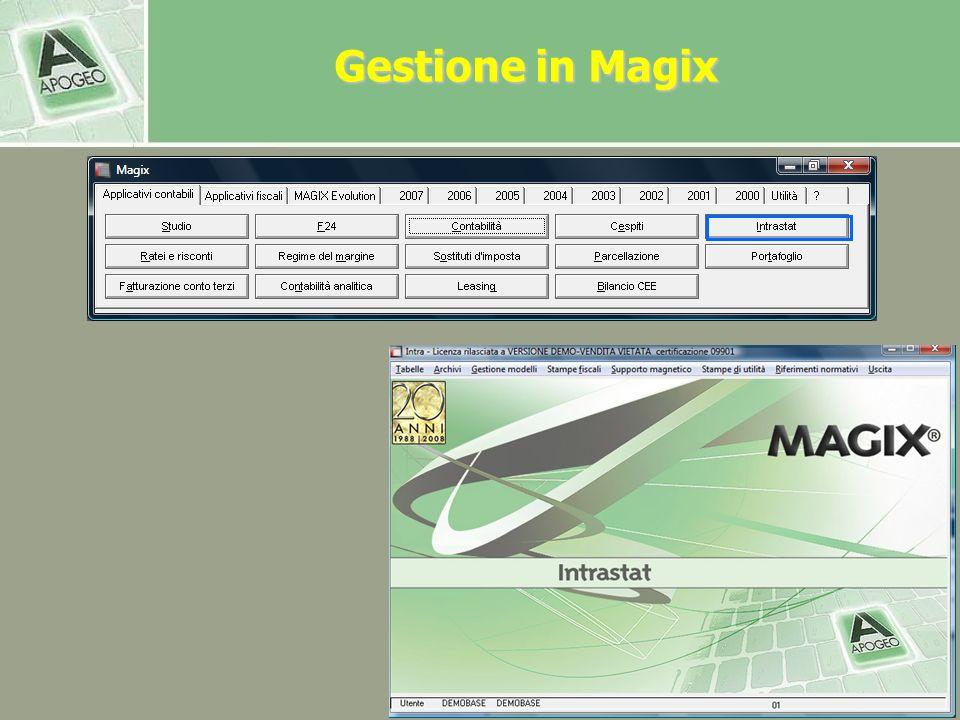 Gestione in Magix